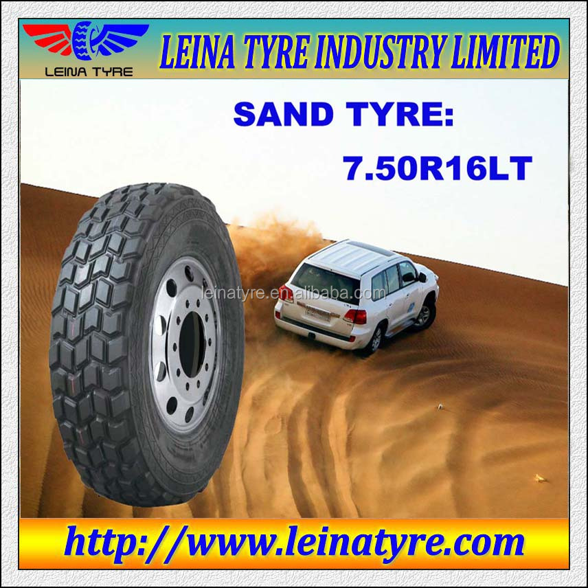 High quality sand pattern semi steel radial car tires 7.50r16 SUV tires