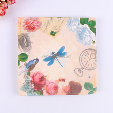 Hot selling dragonfly printed paper tissue napkins
