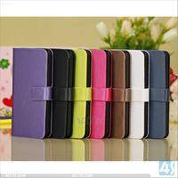 Fashion Designer Wire drawing Skin PU Leather Wallet Case with Credit Card Slots & Holder for iPhone 5C--P-IPH5CCASE014
