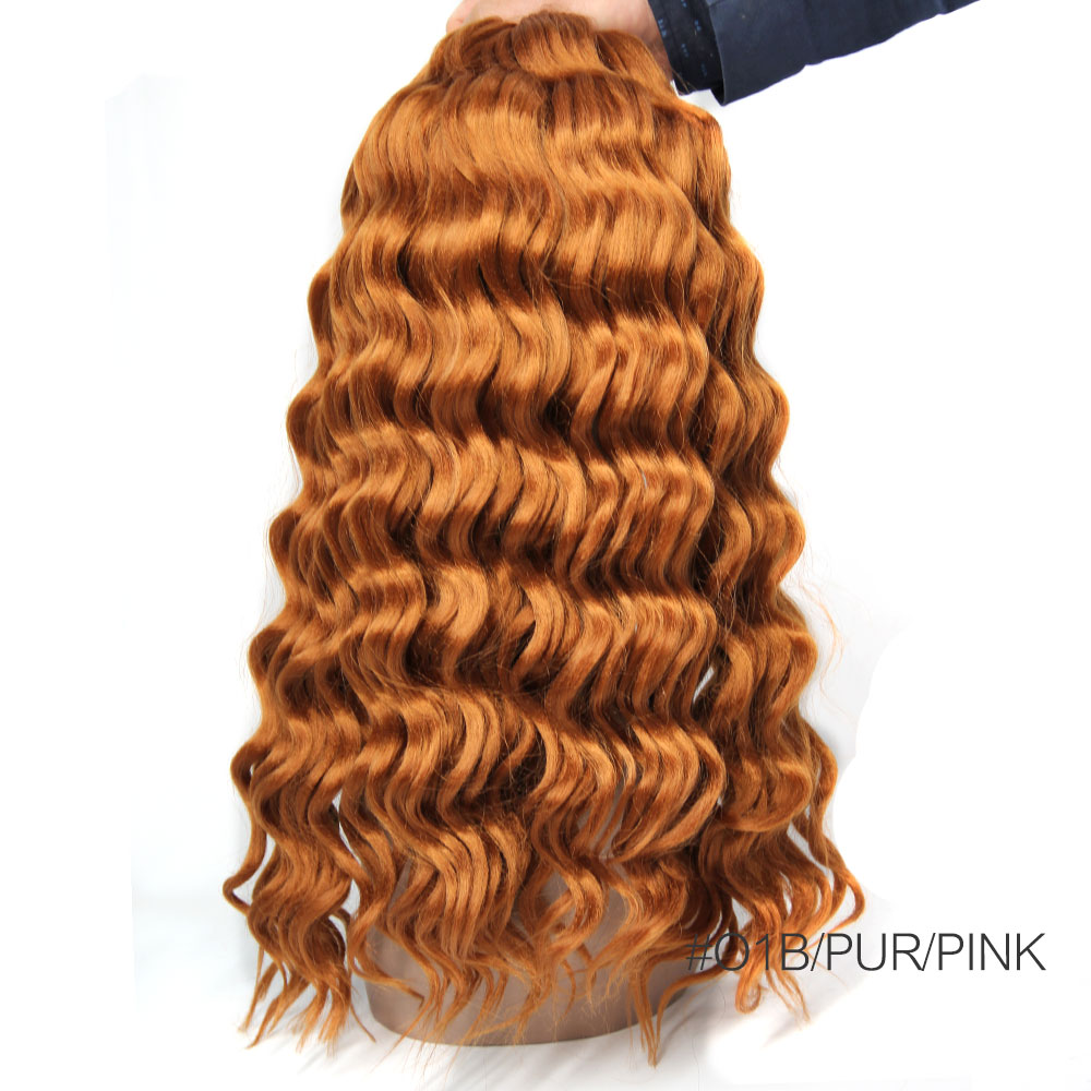 2017 Hot New Products Freetress Curly Crochet Hair Deep Wave Synthetic Twist Hair Jerry Curly For Beauty