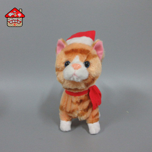 High quatily plush music toys cat