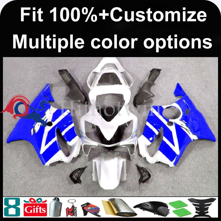 INJECTION MOLDING panels 2001 2002 2003 CBR 600 F4i ABS Plastic Fairing blue silver Plastic kit CBR600F4I For HONDA CBR600 F4i 2