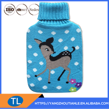 Hand Knitted Hot water bottle cover and Natural Rubber Hot water bottle