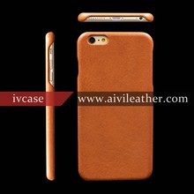 Stunning Smartphone Case for Vegetable Tanned Leather Iphone 6 Plus Back Cover