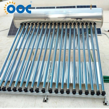 Adaptability Pressurized Stainless Steel Home Solar Heater Calentador With Assistant Tank