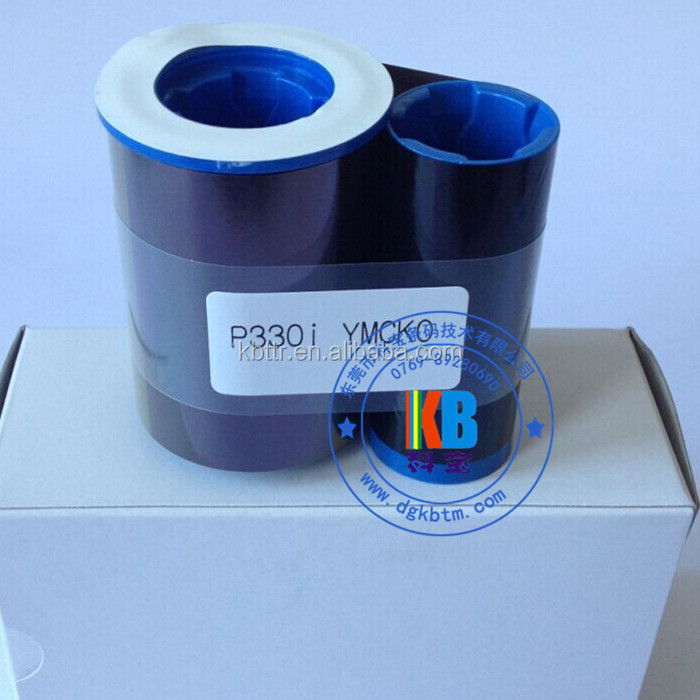 Zebra compatible P330i 800015-440 ymcko color ribbon of 200 prints