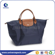 Fashion folding zipper oxford tote bag for shopping