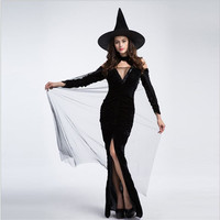Hot sexy elastic witch dress for Halloween Costume