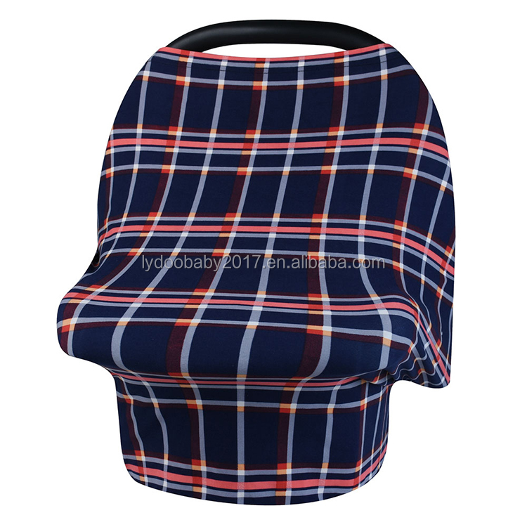 2018 hot sell classical multipurpose cute baby car seat covers breastfeeding wearable nursing cover