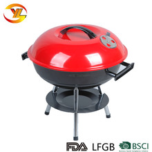 Guangdong factory balcony porcelain enamel apple barbecue charcoal kettle bbq grill