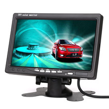 Small size cheap 7 inch Color TFT LCD car monitor with factory price