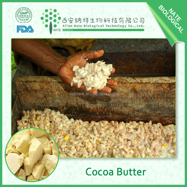 Low price organic cocoa butter , pure cocoa butter in cosmetic grade