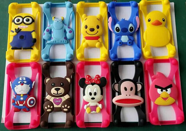 Universal cut animal silicone phone case