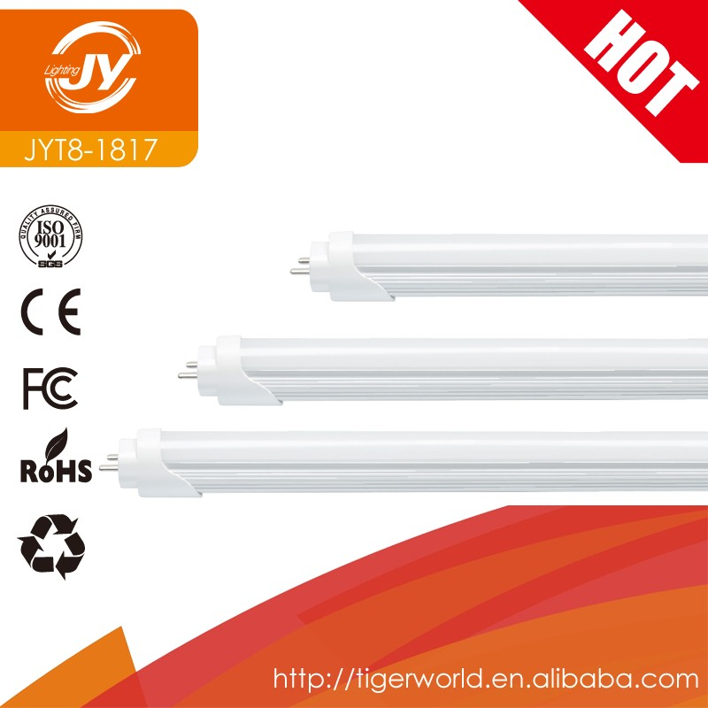 CE ROHS aluminum material PC cover 1200mm 18W T8 led tube light