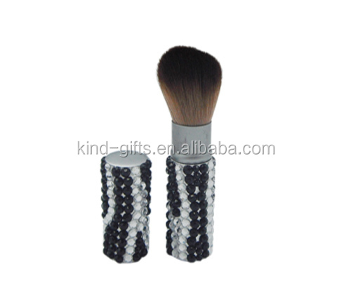 Private label makeup brush,blush brush,retractable brush
