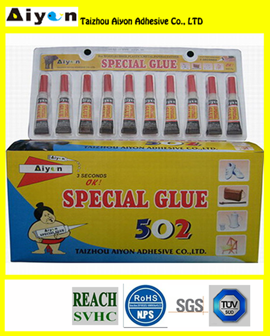 10 Pcs Pack Super Glue Plastic Rubber Leather Aluminium Adhesive Bond - Brand New