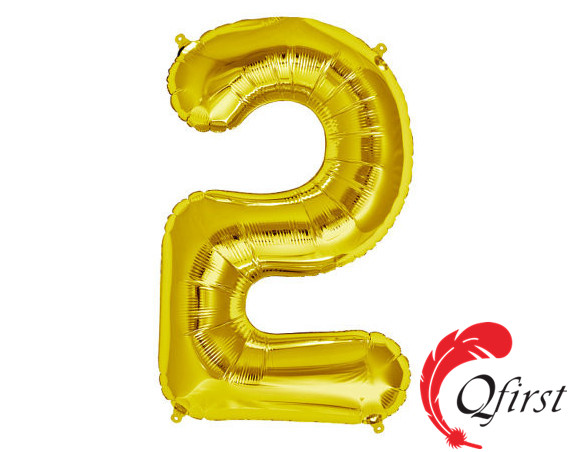 Best selling party decorations #2 foil alphabet number light helium globo ballon gold letter balloon