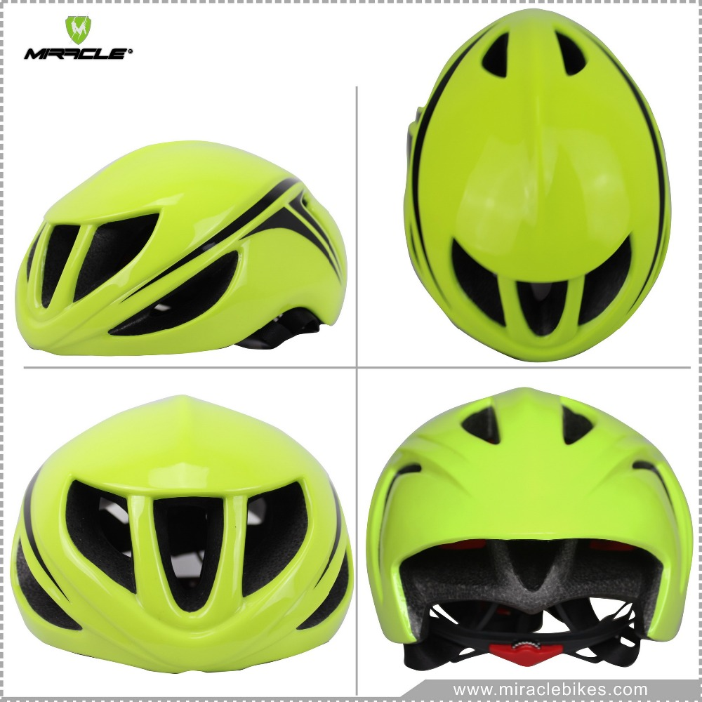 Miracle New Design Aero Vent Road Bike Racing Helmet, Bicycle Safety Helmet Green Color, Road Bike Cycling Helmet