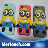 mobile phone accessories for iphone 6 iphone 6 plus silicone cover case with cute Eyebrow Minion despicable me design