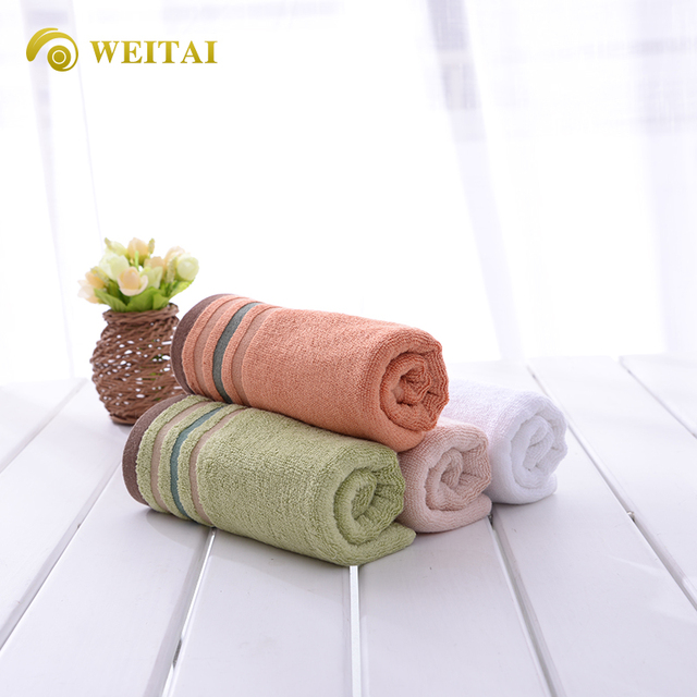 Cheap wholesale hotel towel set bamboo cotton face towel