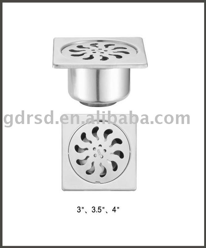 Selfclose Square stainless steel floor drain