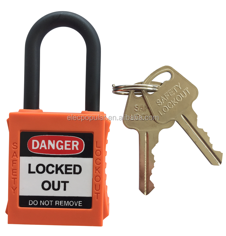 38mm insulation shackle keyed to differ plastic padlock supplier