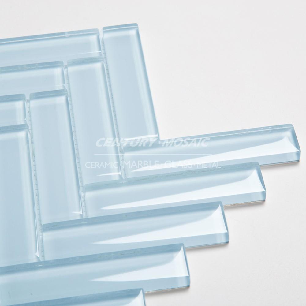 hot sales century double herringbone glass tile backsplash