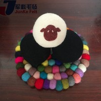 Plastic wool felt ball for christmas tree decoration with CE certificate