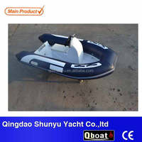 2016 hot sale portable inflatable RIB rigid hull Fiberglass Inflatable Boat for sale