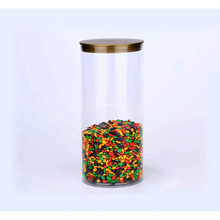 plastic pvc/pet tube packaging custom clear tube for dry fruit/cookies/candy