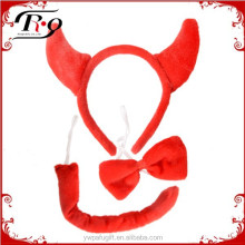 halloween red horn party headband set