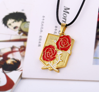 Moonsoul wholesale alibaba Attack on Titan red rose pattern Pendant necklace jewelry wholesale china