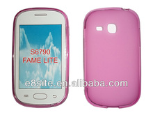 Galaxy Fame Lite S6790 Plain Rubber CellPhone Cover