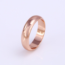 fashion xuping jewerly rose gold plated ring simple design