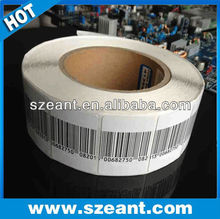 electromagnetic sticker EAS Alarm Security Soft Label 3x4 / 4x4cm 8.2Mhz Barcode or Blank