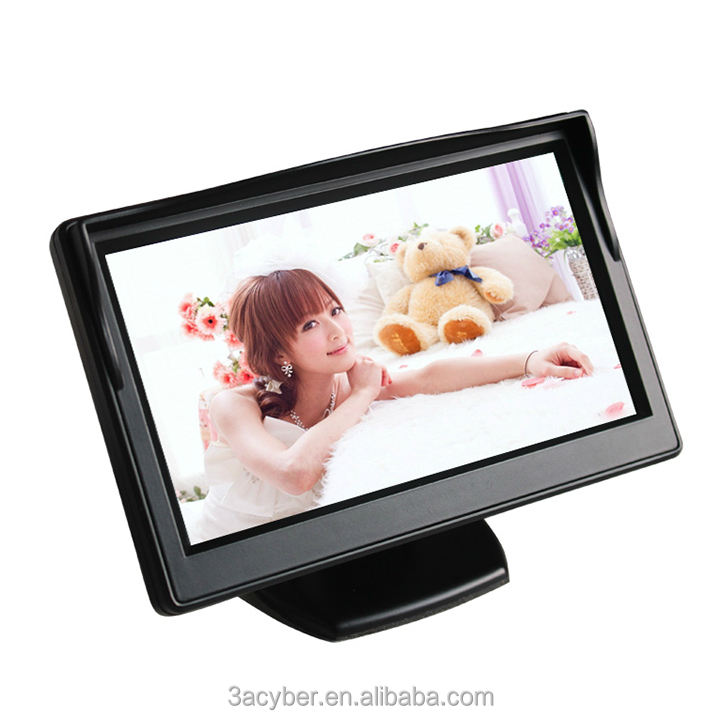 5 Inch High Resolution HD 800*480 Car LCD Monitor Screen 2CH Video