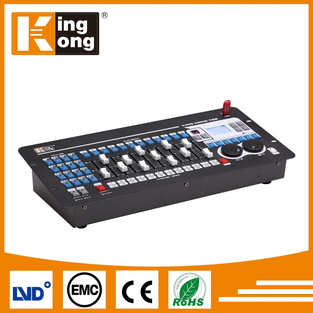 HOT Sell Disco 768 DMX controller for stage light lighting console, expert dmx controller, lighting console expert