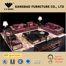Kangbao Furniture DIFIDEN luxury living room furniture, full grain Italian leather sofa