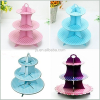 Bule disposable cardboard eiffel tower cupcake stand