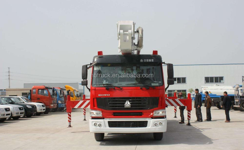 12m3 volume 18 meters monoitor working height water tower fire truck