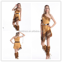 Instyles indio del traje de halloween para las mujeres adultos halloween pocahontas indian girl fancy dress