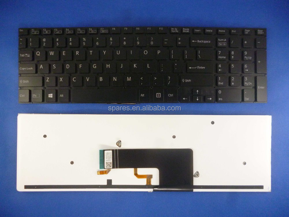 SVF15 for sony US layout laptop keyboard without frame with backlit