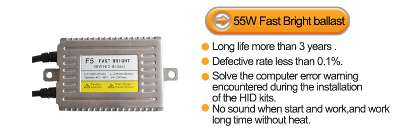 12v 55w H7 fast bright hid kit