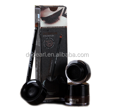 new cushion eyeliner gel waterproof liquid eye liner with brush
