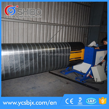 Spiral duct oval machine