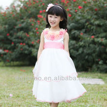 HOT SALE !! beautiful flower cinderella dresses for girls