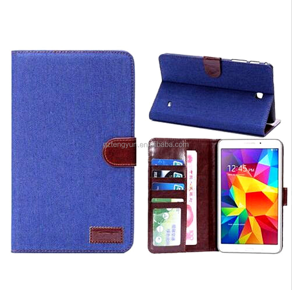 Factory price foldable bumper leather case for Samsung Tab 4 7.0