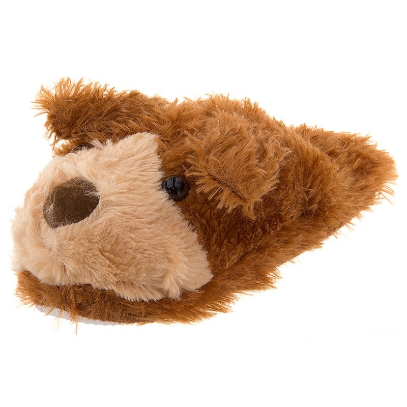 Dog toy furry animal slippers