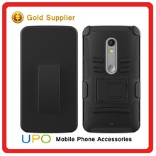 [UPO] 2016 Best Selling Mobile Phone Cover Armor Impact Holster Belt Case For Motorola Moto X Play