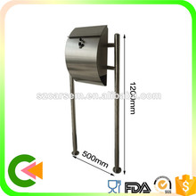Wholesale Customized stainless steel apartment mailboxes with stand